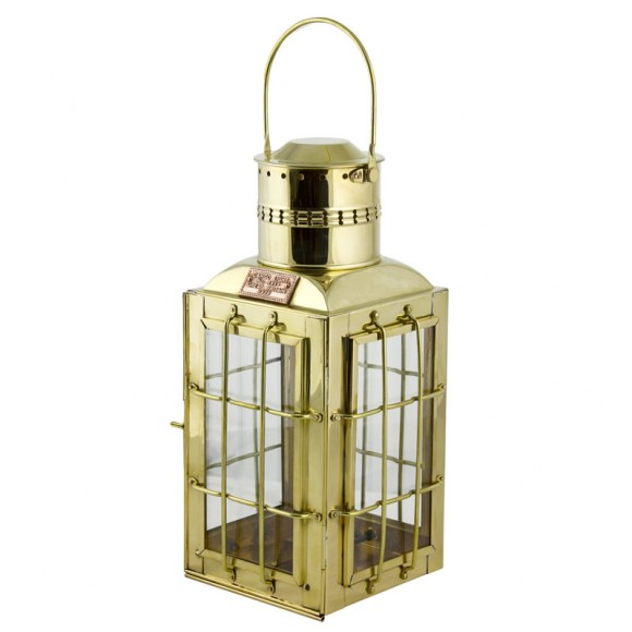 Chief Cargo Electric Lamp, brass