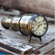 """Discovery"" Telescope Clock, 17cm"