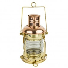 Brass/Copper Anchor Oil Lamp, 29cm