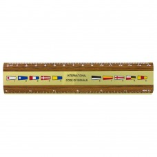 Pennants Brass & Teak Ruler 15cm