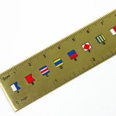 Code Flag Brass Ruler 30cm