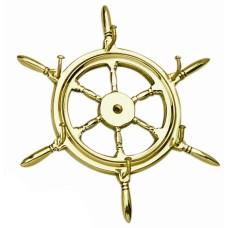 Brass Ship's Wheel Keyrack (6)