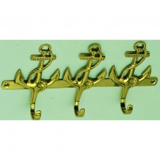 Brass Anchor-style Hook (3)