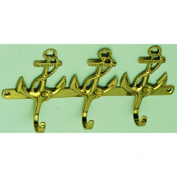Brass Anchor-style Hook (3)
