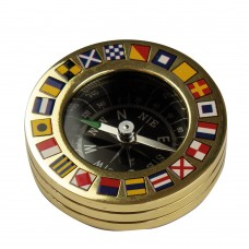 Code Flag Compass Paperweight