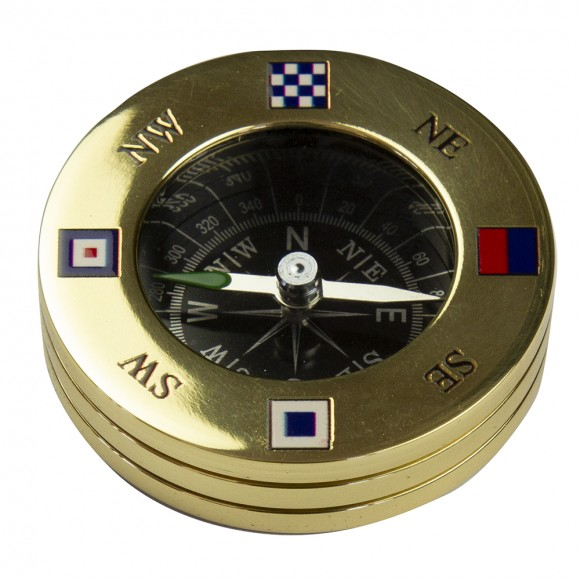 NSEW Code Flag Compass Paperweight