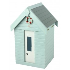 Beach Hut Storage Box, blue, 20cm