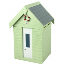 Beach Hut Storage Box, green, 20cm