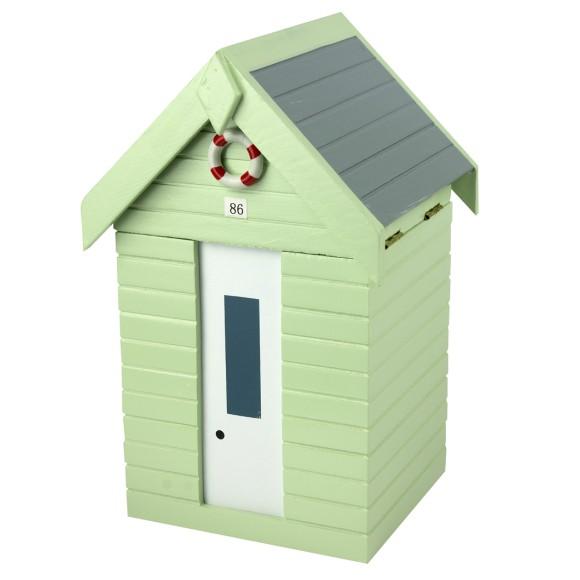 Beach Hut Storage Box, green, 20cm