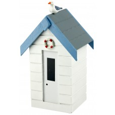 Beach Hut Money Box, white, 16cm