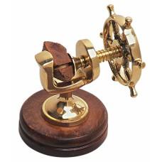 Ship's Wheel Nutcracker, 12cm