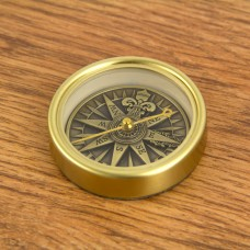 Antique Brass Compass Rose, 5cm