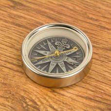 Antique Silver Compass Rose, 5cm