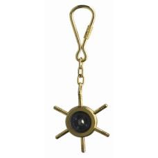 Ship's Wheel & Compass Keyring