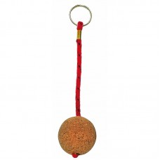 Floating Cork Sphere Keyring