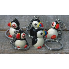 Puffin Keyrings, 5 assorted