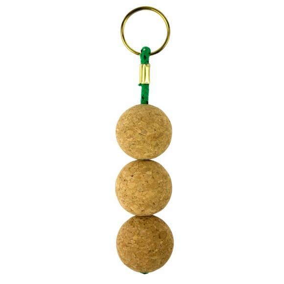 Cork Keyring with Triple Ball