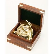 Brass Sundial in Box, 9cm