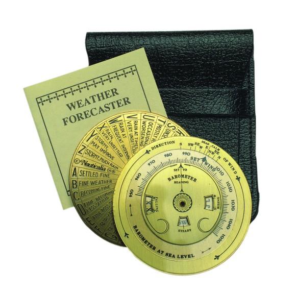 Brass Pocket Weather Forecaster