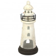 Lighthouse Tealight Holder, white, 28cm