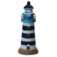 Lighthouse Tealight Holder, navy, 28cm