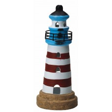 Lighthouse Tealight Holder, red, 20cm