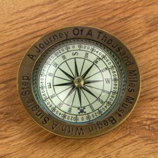 Journey of a Thousand Miles Compass, 10cm