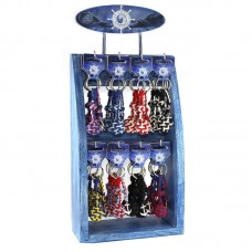 Monkey Fist and Anchor Keyring, 96 assorted on display stand