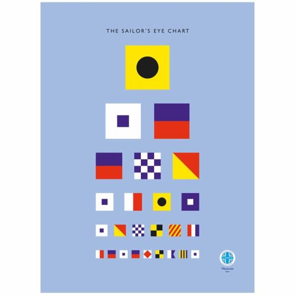 Sailor's Eye Chart Tea Towel