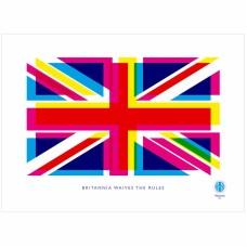 Britannia Waives The Rules Tea Towel