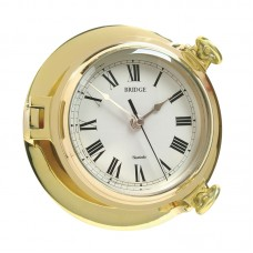 Brass Bridge Clock, 18cm