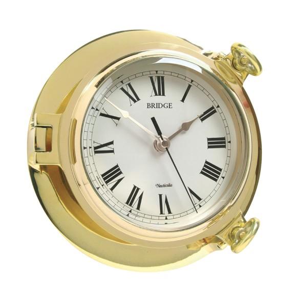 Brass Bridge Clock, 18cm