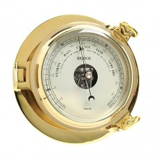 Brass Bridge Barometer, 18cm