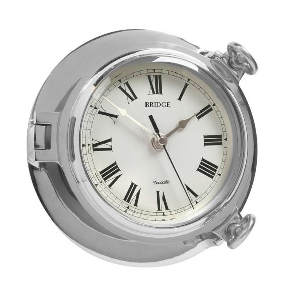 Chrome Bridge Clock, 18cm