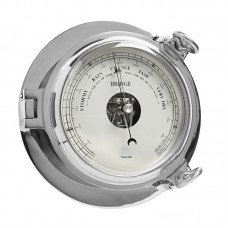 Chrome Bridge Barometer, 18cm