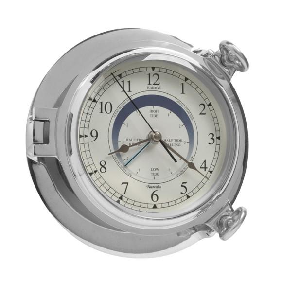 Chrome Bridge Tide Clock, 18cm