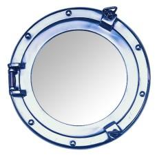 Aluminium Porthole Mirror, 15cm