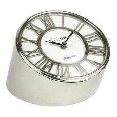 """Brooklyn"" Desk Clock, nickel, 15cm"