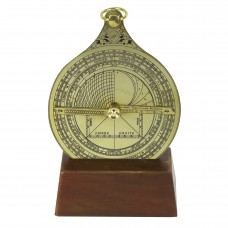 Astrolabe with Wooden Stand