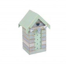 Beach Hut Money Box (Heart), 16cm