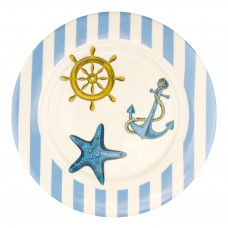 Blue Stripe Plate, 23cm