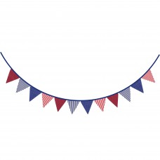 Dots/Stripes Bunting, red/blue, 2m