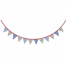 Nautical Bunting, red/blue, 2m