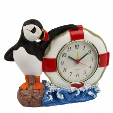 Clock with Life Ring & Puffin, 18x15cm