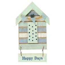 Beach Hut-Style Magnet, Happy Days, 12cm