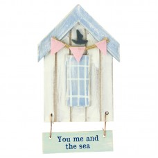 Beach Hut-Style Magnet, You me and the sea, 12cm
