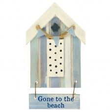 Beach Hut-Style Magnet, Gone to the beach, 12cm