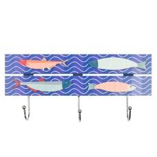 Beach Hut-Style Magnet, Seas the Day, 12cm