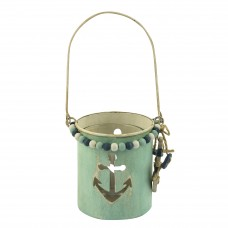 Metal Tealight Holder with Anchor, 9cm