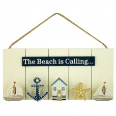 """The Beach is Calling"" Peg Board, 24cm"